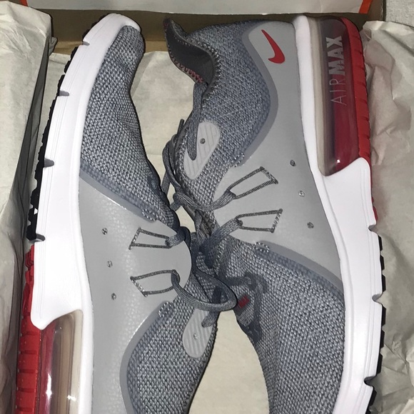 ffe561aac14 Nike Shoes | Air Max Sequent 3 Cool Gray And Red Size115 | Poshmark